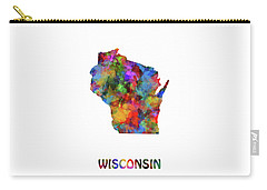 Wisconsin Map Watercolor  Carry-all Pouch