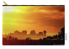 Wisconsin Misty Morning Farm Fields Sunrise Carry-all Pouch