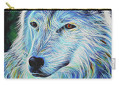 Wise White Wolf Carry-all Pouch