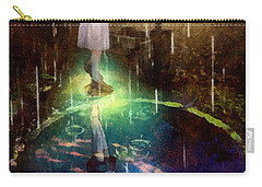 Carry-all Pouch featuring the painting Wishing Well by Mo T