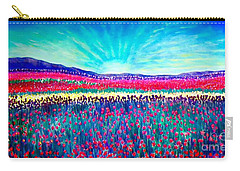 Carry-all Pouch featuring the painting Wishing You The Sunshine Of Tomorrow by Kimberlee Baxter