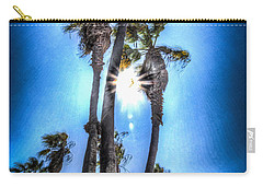 Carry-all Pouch featuring the photograph Wispy Palms by T Brian Jones