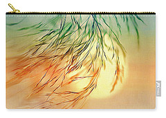 Carry-all Pouch featuring the digital art Wispy Sunset-0 by Nina Bradica