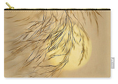 Carry-all Pouch featuring the digital art Wispy Sunset-2 by Nina Bradica