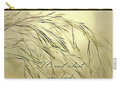 Carry-all Pouch featuring the digital art Wispy Sunset-3 by Nina Bradica