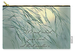Wispy Sunset-5 Carry-all Pouch by Nina Bradica