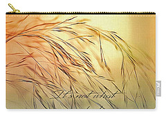 Carry-all Pouch featuring the digital art Wispy Sunset-7 by Nina Bradica