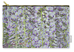 Carry-all Pouch featuring the photograph Wisteria Before The Hail by Nareeta Martin