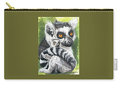 Ring-tailed Lemur Mixed Media Carry-All Pouches