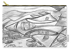 Carry-all Pouch featuring the drawing Witchcraft Federation Jet Fighters - Sierra Leone by Mudiama Kammoh