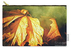Carry-all Pouch featuring the photograph Withered Leaves by Silvia Ganora