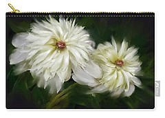 Carry-all Pouch featuring the painting Withering Peony by Bonnie Willis
