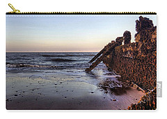 Withernsea Groynes At Sunset Carry-all Pouch