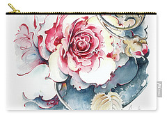 Carry-all Pouch featuring the painting Without Fear Of The Storm by Anna Ewa Miarczynska