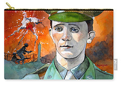 Carry-all Pouch featuring the painting W.j. Symons Vc by Ray Agius