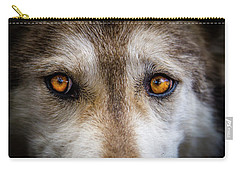 Carry-all Pouch featuring the photograph Wolf Eyes by Teri Virbickis