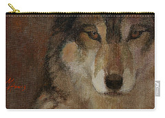 Wolf Head Carry-all Pouch