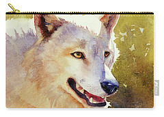 Wolf In Morning Light Carry-all Pouch by Bonnie Rinier