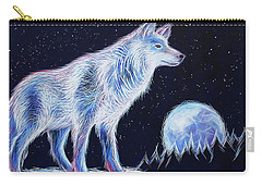 Wolf Moon Carry-all Pouch by Angela Treat Lyon