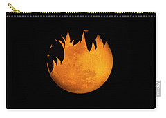 Carry-all Pouch featuring the photograph Wolf Moon by Mark Andrew Thomas