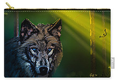 Wolf Of The Dark Wood Carry-all Pouch by J Griff Griffin