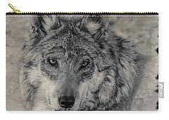 Carry-all Pouch featuring the photograph Wolf Painted by Elaine Malott