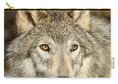 Wolf Portrait Carry-all Pouch by Jack Bell