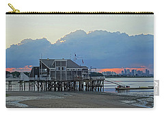 Wollaston Beach Quincy Ma Sunset Boston Skyline Quincy Ma Carry-all Pouch