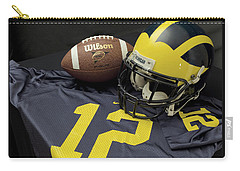 Wolverine Helmet With Football And Jersey Carry-all Pouch