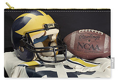 Wolverine Helmet With Jersey And Football Carry-all Pouch