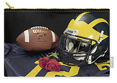 Wolverine Helmet With Roses, Jersey, And Football Carry-all Pouch