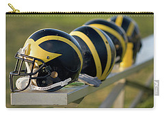 Wolverine Helmets On A Bench Carry-all Pouch
