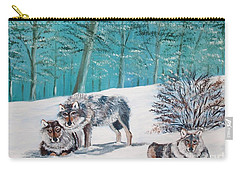 Wolves In The Wild Carry-all Pouch