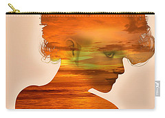 Woman And A Sunset Carry-all Pouch