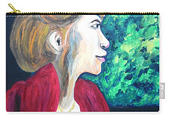 Carry-all Pouch featuring the painting Woman At The Window by Esther Newman-Cohen