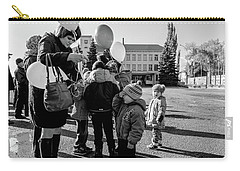 Carry-all Pouch featuring the photograph Woman Balloon And Boy by John Williams