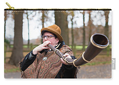 Carry-all Pouch featuring the photograph Woman Blowing Horn by Hans Engbers