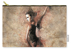 Woman Flamenco Dancer Carry-all Pouch by Shirley Stalter