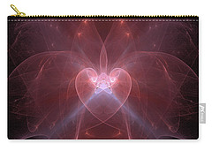 Woman Heart Aglow Carry-all Pouch by Ronda Broatch