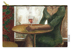 Woman In A Paris Cafe Carry-all Pouch