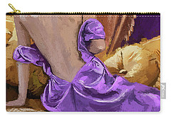 Woman In A Purple Dress Carry-all Pouch