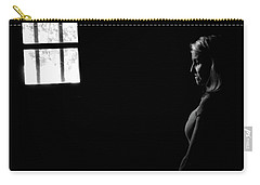 Woman In The Dark Room Carry-all Pouch by Ralph Vazquez