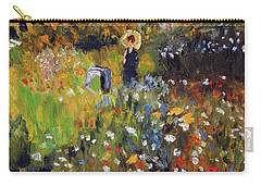 Woman In The Garden After Renoir Carry-all Pouch