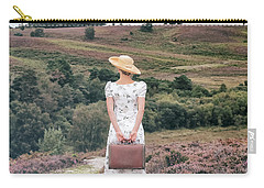 Woman On A Hill Carry-all Pouch