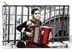 Woman Playing Accordion Carry-all Pouch
