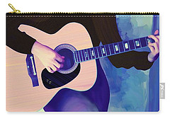 Woman Playing Guitar Carry-all Pouch