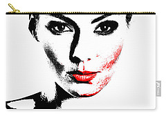 Woman Portrait In Art Look Carry-all Pouch