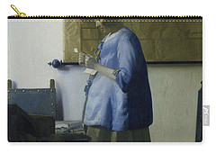 Woman Reading A Letter, 1663 Carry-all Pouch