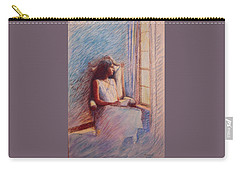 Woman Reading By Window Carry-all Pouch