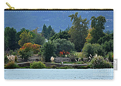 Woman Resting By A Lake Carry-all Pouch